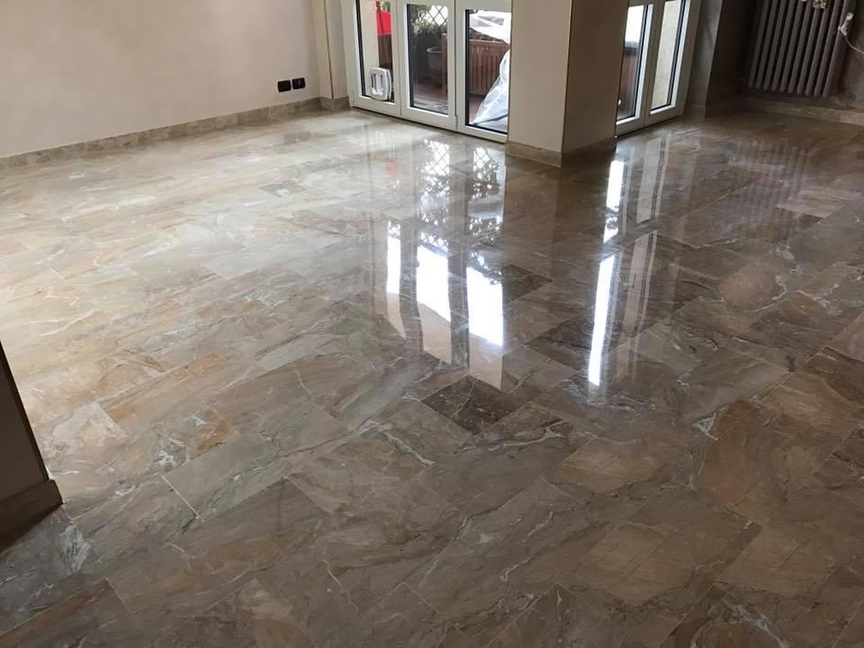 Microlevigatura pavimenti in marmo Arcisate